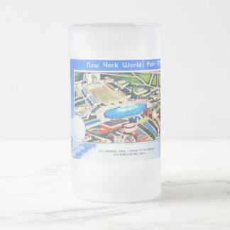 New York World's Fair 1939 Frosted Glass Beer Mug