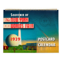 New York World's Fair 1939 Postcard Calendar