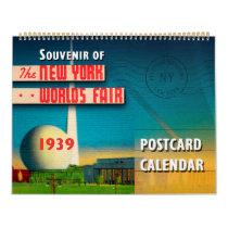 New York World's Fair 1939 Postcard Calendar