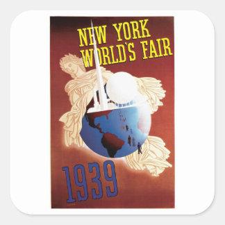 New York World's Fair 1939 Square Sticker