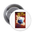New York World's Fair 1939 Travel Poster Art Pinback Buttons