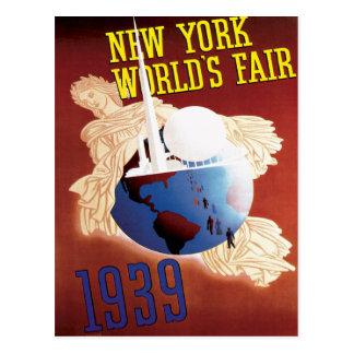 New York World's Fair 1939 Travel Poster Art Postcard