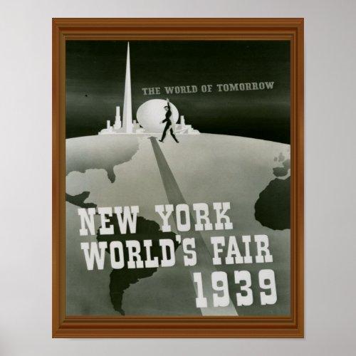 New York World's Fair 1939 Vintage Black White