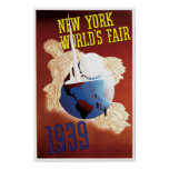 """New York World's Fair 1939""  Vintage Poster"