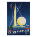 New York World's Fair 1939 Vintage Poster