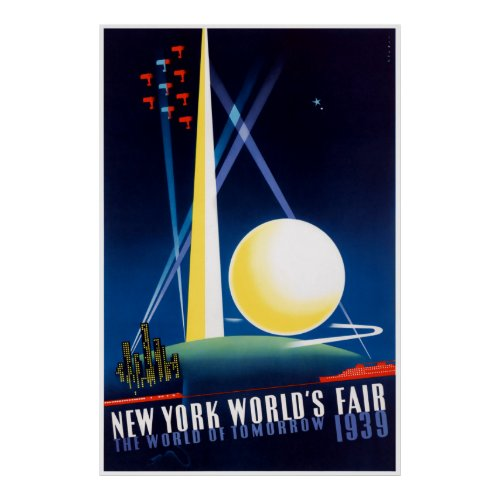 New York World's Fair 1939 Vintage Travel Poster