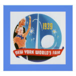 New York Worlds Fair (border) Poster