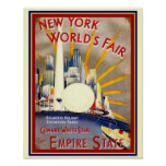 New York World's Fair Deco Print 11 x 14