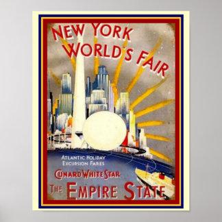 New York World's Fair Deco Print 11 x 14