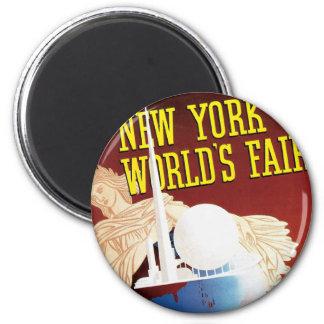 New York World's Fair (Globe) 2 Inch Round Magnet