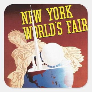 New York World's Fair (Globe) Square Sticker