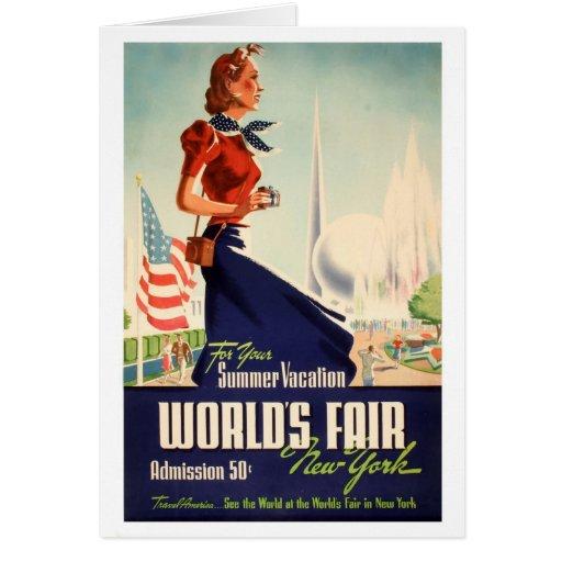 New York World's Fair Poster Greeting Card