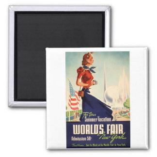 New York World's Fair Poster Magnet