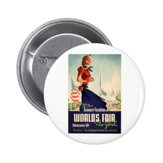 New York World's Fair Poster Pinback Button