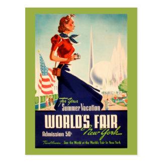 New York World's Fair Vintage Postcard