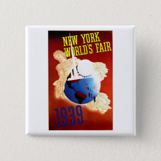 New York World's Fair Vintage Travel Ad Pinback Button