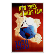 New York World's Fair Vintage Travel Ad Poster