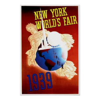 New York World's Fair Vintage Travel Ad Posters