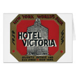 New York World's Fair Vintage Travel Label Card