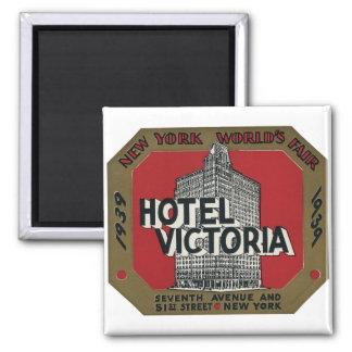 New York World's Fair Vintage Travel Label Magnet