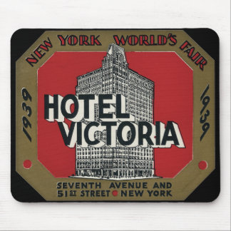 New York World's Fair Vintage Travel Label Mouse Pad