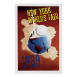 New York, World's Fair Vintage Travel Poster