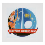 New York Worlds Fair (white) Poster