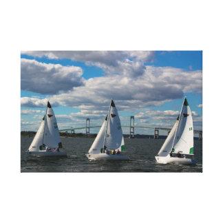 New York Yacht Club Sailing in Newport, RI Canvas Print