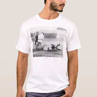 New York Yankee player slides into Base T-Shirt