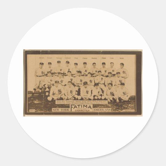 New York Yankees 1913 Classic Round Sticker