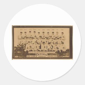 New York Yankees 1913 Pegatina Redonda