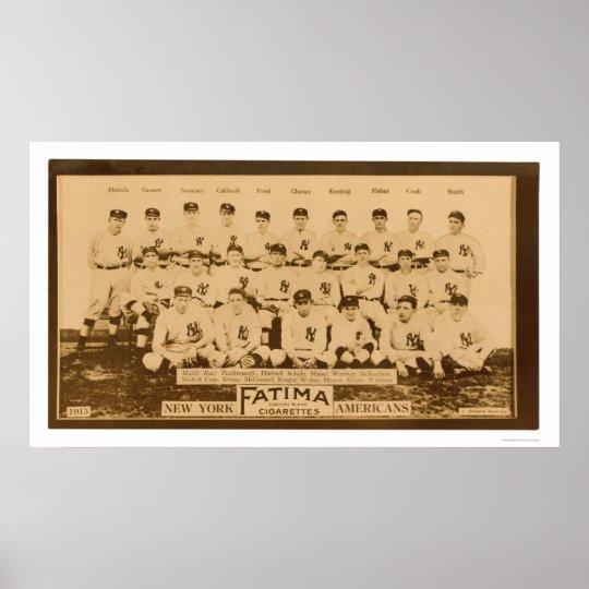 New York Yankees Baseball 1913 Poster