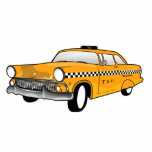 New York Yellow Cab Keychain Photo Cutout