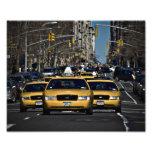 New York Yellow Cabs Photo Art
