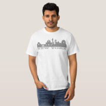 New York Yellow Lettering Building T Shirt