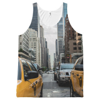 New York Yellow Taxi Cabs All-Over-Print Tank Top