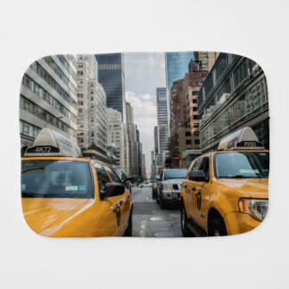 New York Yellow Taxi Cabs Baby Burp Cloth
