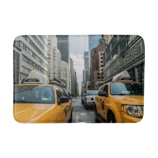 New York Yellow Taxi Cabs Bathroom Mat