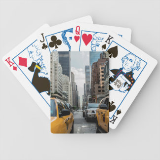 New York Yellow Taxi Cabs Bicycle Playing Cards