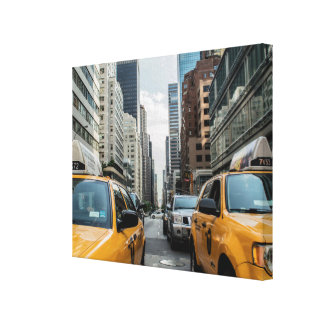New York Yellow Taxi Cabs Canvas Print