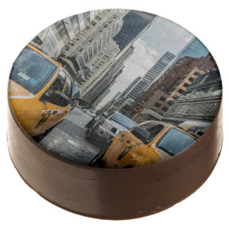 New York Yellow Taxi Cabs Chocolate Covered Oreo