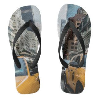 New York Yellow Taxi Cabs Flip Flops