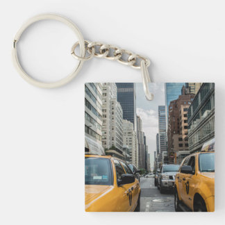 New York Yellow Taxi Cabs Keychain