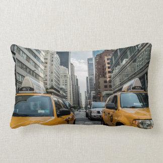 New York Yellow Taxi Cabs Lumbar Pillow