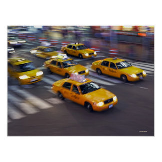 New York Yellow Taxi's Poster