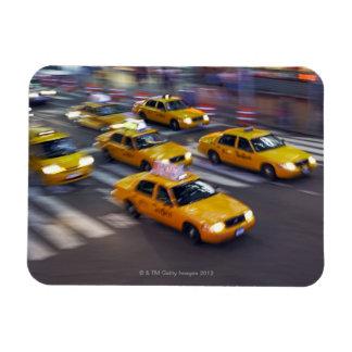 New York Yellow Taxi's Rectangular Photo Magnet