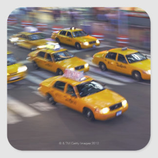 New York Yellow Taxi's Square Sticker