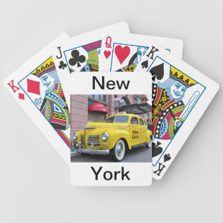 New York Yellow Vintage Cab Bicycle Playing Cards