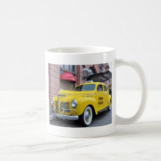 New York Yellow Vintage Cab Coffee Mug