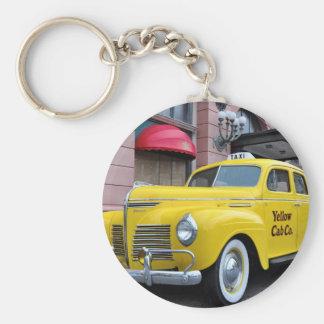 New York Yellow Vintage Cab Keychain